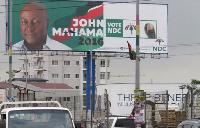 NDC Billboard.         File photo.