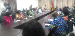Madam Martha Pobee, the Acting Chief Director of MoFA presented the check at an event in Accra