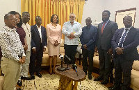 JJ Rawlings with the officials of the Electoral Commission of Ghana