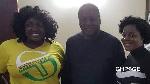 Kumawood actresses Tracey Boakye , John Mahama and Gloria Kani