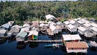 Aerial shot of the Nzulenzu community
