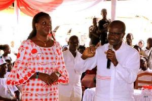 Running mate Brigitte Dzogbenuku and Dr. Nduom