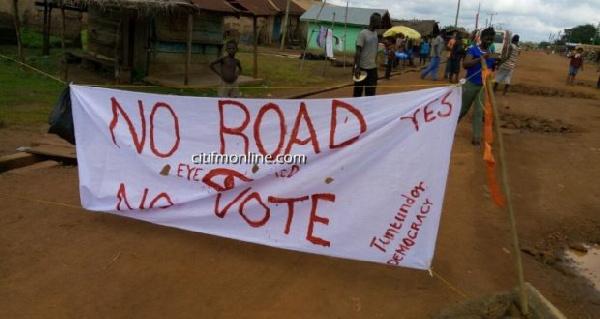 Poor state of roads in Volta Region