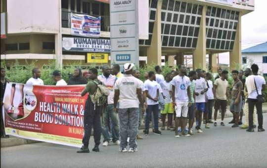 Mamedia annual walk was held in Kumasi