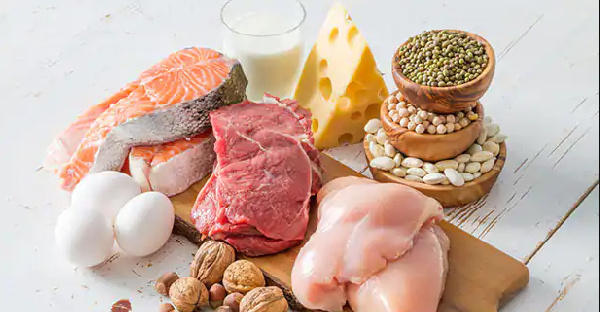 Although chicken and eggs are a good source of protein, other foods could substitute them