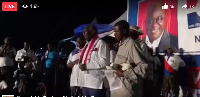 The NPP's final rally is themed: The Battle is the Lord's