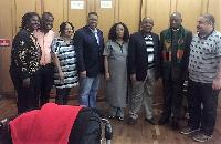 Abeiku Aggrey Santana with SADC heads