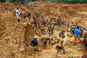 A file photo of galamsey site