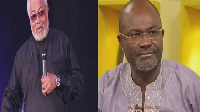 Former President Jerry John Rawlings and Kennedy Agyapong