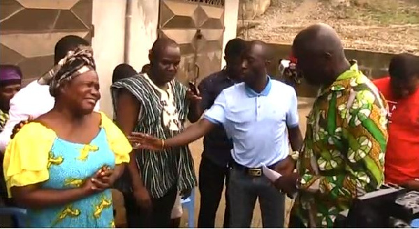 Management of Ghana Gas consoling the family