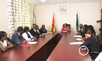 Shirley Ayorkor Botchwey in a meeting with the executives of the Kenyan Community