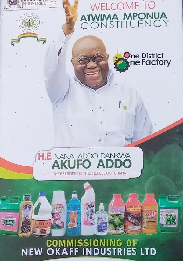 The factory was commissioned by President Akufo-Addo on Wednesday, December 3, 2020