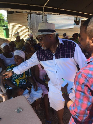 Nenyi George Andah welcoming constituents