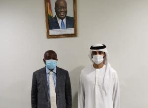 Kwaku Agyeman Manu And Sheikh Ahmed Dalmook Al Maktoum
