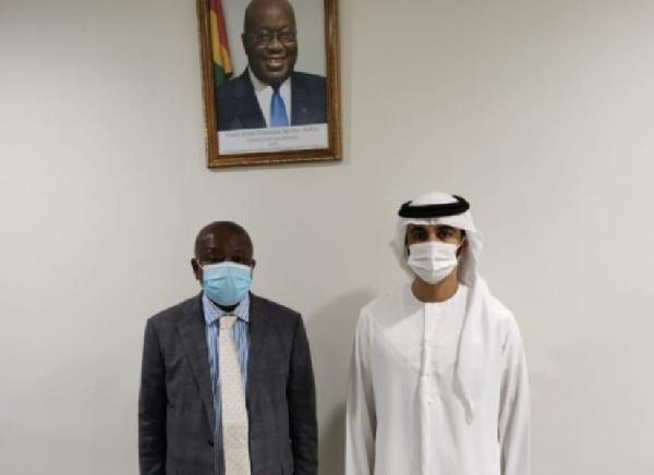 Kwaku Agyeman-Manu and Sheikh Ahmed Dalmook Al Maktoum