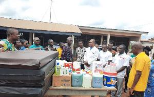 Awaso District Pentecost church donates to health facilities in Sefwi Bekwai township