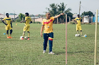 Head coach of Hearts of Oak Kim Grant