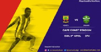 Accra Hearts of Oak and Dreams FC match set to take place at Cape Coast Sports Stadium on Sunday