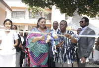 Rebecca Akufo-Addo commissioning the new storey multi-purpose complex offices & two lecture theatres