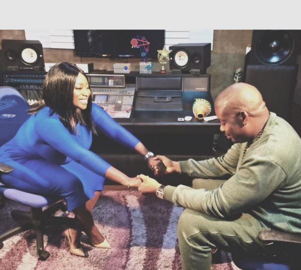 Peace Hyde with Don Jazzy