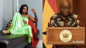 Musician Becca and President Nana Akufo-Addo