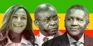 Isabel dos Santos, Strive Masiyiwa and Aliko Dangote