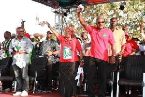 File photo: President Mahama and Wife Lordina