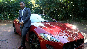 23-year old Sandile Shezi wey dey call himself South African youngest millionaire