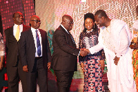 President Akufo-Addo exchanging pleasantries with others after the Awards night