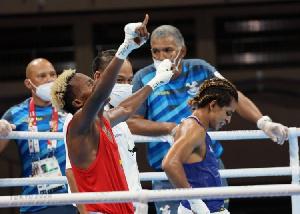 Samuel Takyi has advanced to the quarterfinal stage