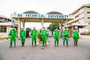 The Ho Technical University was also disinfected