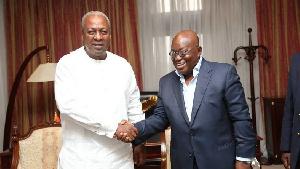 John Dramani Mahama and President Akufo-Addo