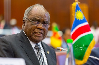 Hifikepunye Pohamba, former Namibia President and leader of the AU Election Observation Mission