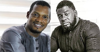 Media Excel boss, Kwasi Ernest and Artiste manager Bulldog