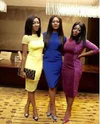 Roseline Okoro, Sandra Ankobiah and Yvonne Okoro