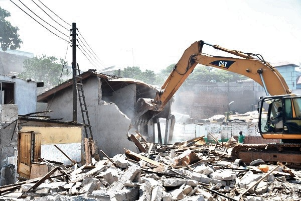 Demolition exercise hits Haatso Station, as shop owners cry for justice