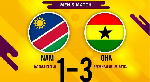 Ghana defeated their opponents, Namibia