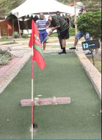 President of the Ghana Minigolf Federation, Mr Talal Fattal participated in the competition