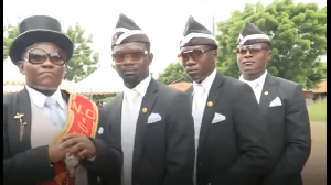 The dancing pallbearers have become a an internet sensation since going viral on social media