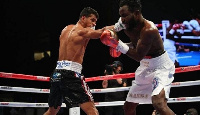 Super Featherweight Champion Alberto Machado defeated Rafael Mensah