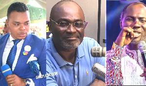 Daniel Obinim, Kennedy Agyapong and Badu Kobi