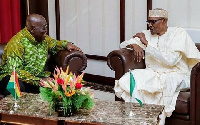 Ghana's President Akufo-Addo and Nigerian President, Muhammadu Buhari