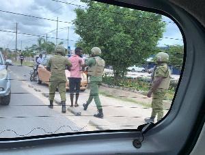Bernard Morrison being arrested by Tanzanian police