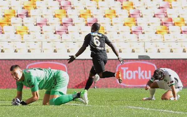 Acquah, Tetteh impress as Yeni Malatyaspor secure late draw against Gazientep