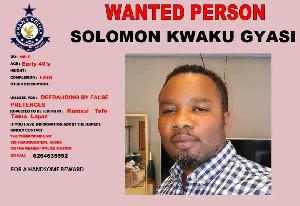 Solomon Kwaku Gyasi is wanted