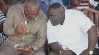 Former President Mahama with his Chief of Staff Julius Debrah