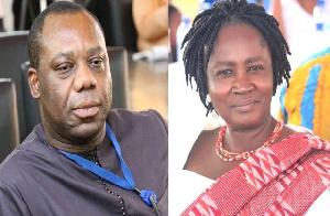 Education Minister, Mathew Opoku Prempeh and Professor Naana Jane Opoku Agyemang