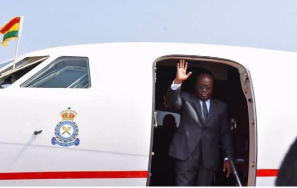Akufo-Addo leaves for South Africa