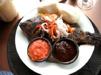 Banku and Tillapia, Ghanaian dish
