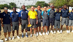 Frank Kwame Agbavor receives badge to officiate Int'l beach volleyball matches
